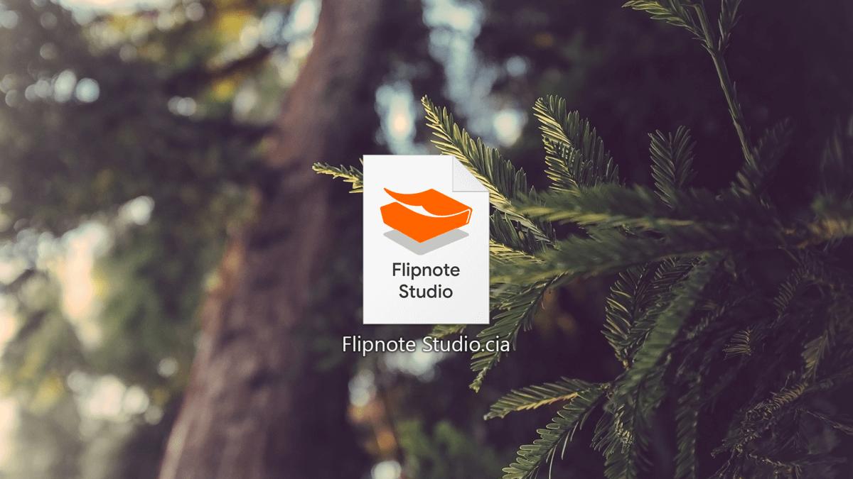 Flipnote Studio DSi as a .cia File