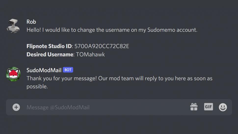 Sending Username to SudoModMail