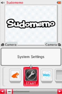 Nintendo DSi Home Screen, focused on Settings app