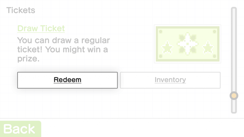 Redeem Button in Creator's Room