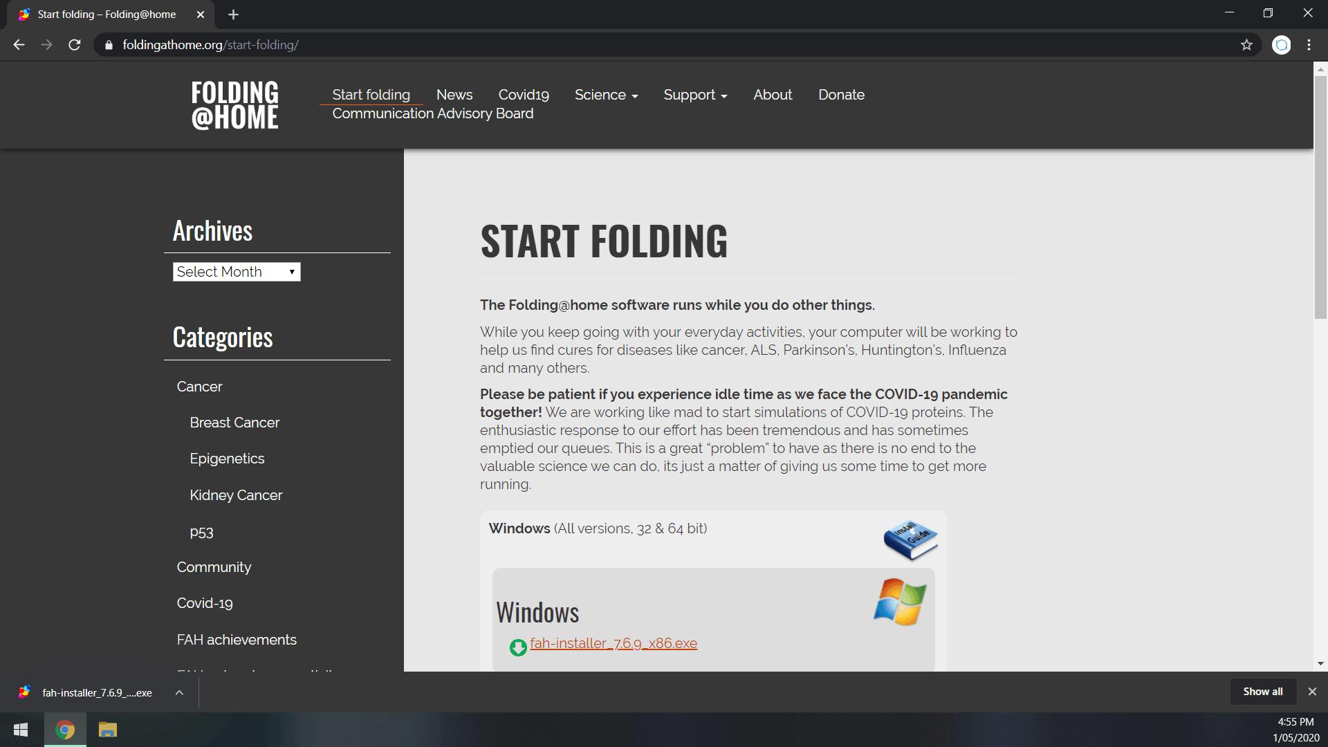 FAH Downloaded File