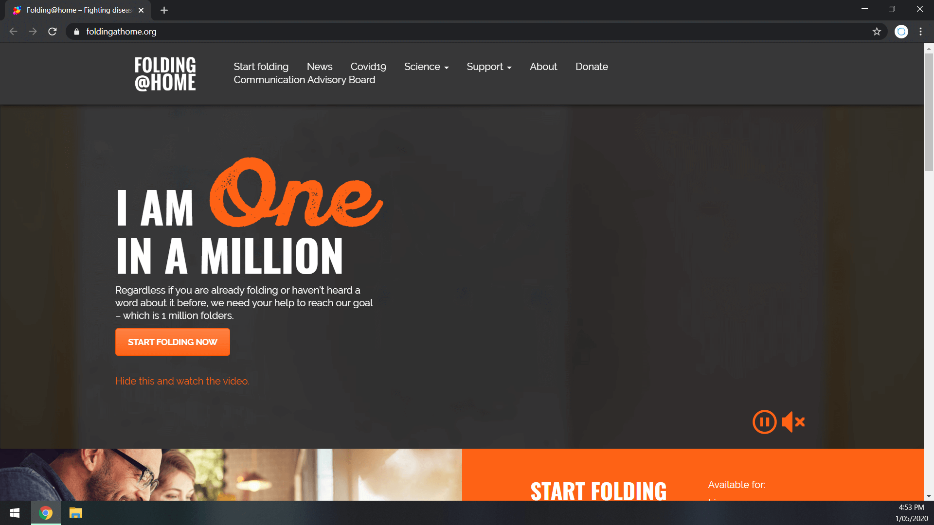 Folding at Home Home Page